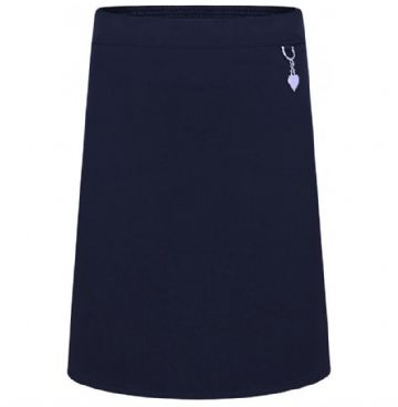 Navy blue Girls Heart Detail Skirt